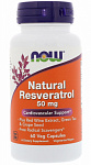 NOW Foods Natural Resveratrol 50 mg