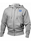 Better Bodies Jersey Hoodie, Grey Melange