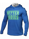 Better Bodies Mens Soft Hoodie, Bright Blue