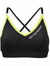 Better Bodies Cherry Hill Short Top, Black/Lime
