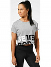 Better Bodies Astoria cropped tee, Greymelange