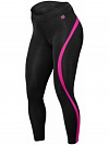 Better Bodies Curve Tights, Black/Pink